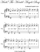 Hark the Herald Angels Sing Easiest Piano Sheet Music ebook by Traditional English Carol