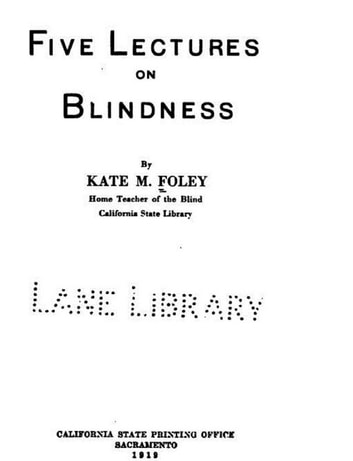 Five Lectures on Blindness ebook by Kate,M. Foley