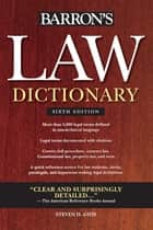 Law Dictionary eBook by Steven H. Gifis