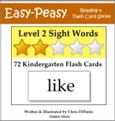 Level 2 Sight Words: 72 Kindergarten Flash Cards ebook by Chris DiPaolo