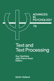 Text and Text Processing ebook by Denhiere, G.