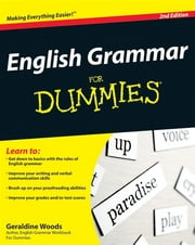 English Grammar For Dummies ebook by Geraldine Woods