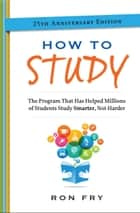 How to Study ebook by Ron Fry