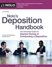 Nolo's Deposition Handbook ebook by Paul Bergman, JD, Albert Moore,...