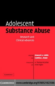 Adolescent Substance Abuse ebook by Liddle, Howard A.
