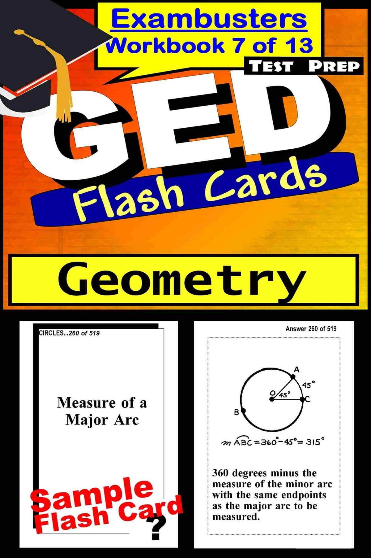 Workbooks kaplan sat critical reading workbook : GED Test Prep Geometry Review--Exambusters Flash Cards--Workbook 7 ...