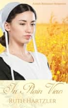 In Plain View (Amish Romance Suspense) - Amish Romance ebook by Ruth Hartzler