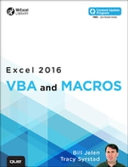Excel 2016 VBA and Macros (includes Content Update Program) ebook by Bill Jelen,Tracy Syrstad