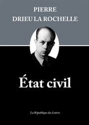 État civil ebook by Pierre Drieu la Rochelle