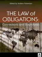The Law of Obligations ebook by Andrew Robertson