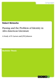 Passing and the Problem of Identity in Afro-American Literature - A Study of N. Larsen and J.W. Johnson ebook by Robert Wetzorke