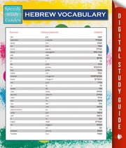 Hebrew Vocabulary (Speedy Language Study Guides) ebook by Speedy Publishing