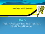 Master in 5 Days (Tennis Coaching Course) : Day 5 - BASIC AND PSYCHOLOGICAL TIPS AND BASIC GOOD DRILLS ebook by Umer Malik