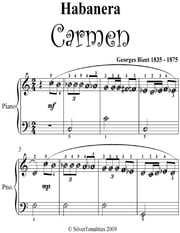 Habanera Carmen Easiest Piano Sheet Music ebook by Georges Bizet