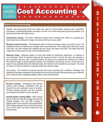 cost accounting speedy study guides ebook by speedy publishing rh kobo com cost accounting a managerial emphasis study guide Accounting Cheat Sheet