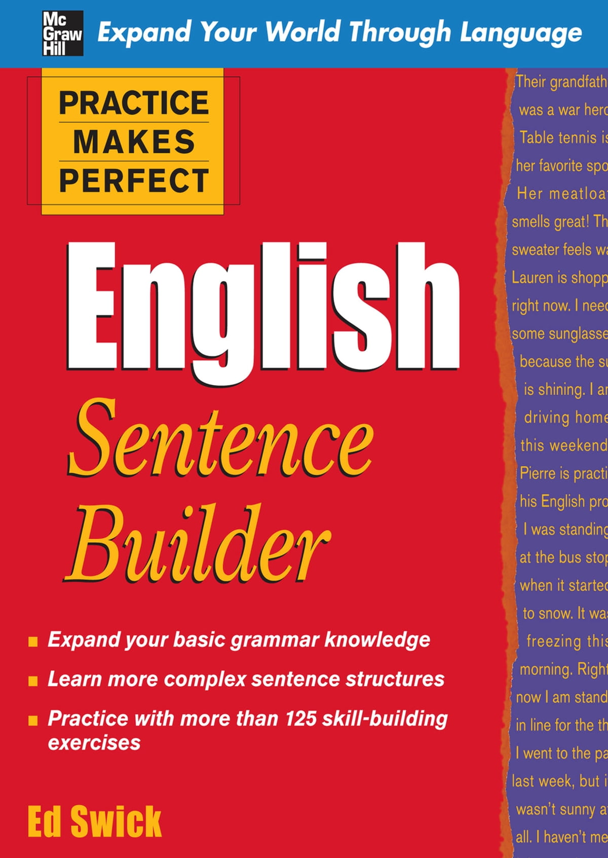 Workbooks english grammar workbook for dummies pdf free download : Practice Makes Perfect English Sentence Builder eBook by Ed Swick ...
