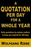 A Quotation Per Day for a Whole Year