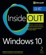 Windows 10 Inside Out (includes Current Book Service) ebook by Ed Bott,Carl Siechert,Craig Stinson