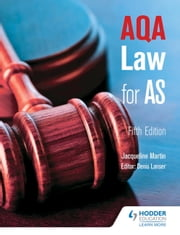 AQA Law for AS Fifth Edition ebook by Jacqueline Martin,Denis Lancer