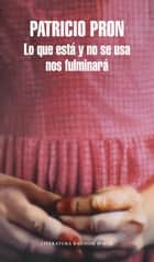 Lo que está y no se usa nos fulminará ebook by Patricio Pron