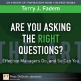 Are You Asking the Right Questions? - Effective Managers Do, and So Can You ebook by Terry J. Fadem
