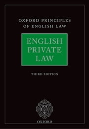English Private Law ebook by Andrew Burrows