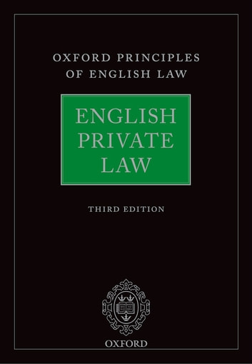 English Private Law ebook by
