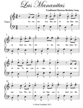 Las Mananitas Easy Piano Sheet Music ebook by Traditional Mexican Birthday Song