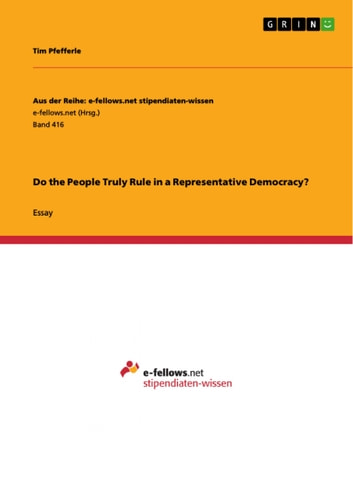 Environmental Science Essays Do The People Truly Rule In A Representative Democracy Ebook By Tim  Pfefferle How To Write A Thesis Statement For A Essay also Comparison Contrast Essay Example Paper Do The People Truly Rule In A Representative Democracy Ebook By Tim  Proposal Essay Format