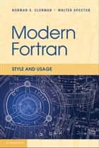 Modern Fortran ebook by Norman S. Clerman,Walter Spector