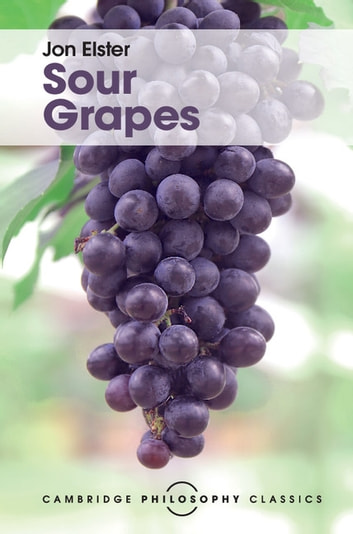 Sour Grapes - Studies in the Subversion of Rationality ebook by Jon Elster