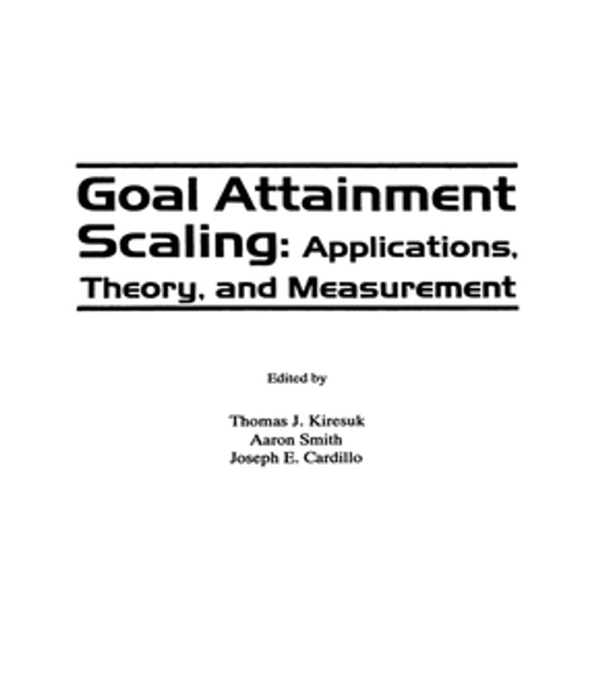 goal attainment theory