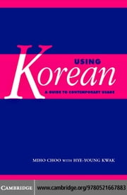 Using Korean ebook by Choo,Miho