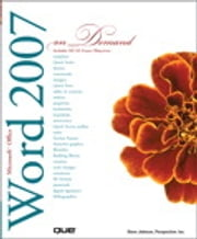 Microsoft Office Word 2007 On Demand ebook by Steve Johnson,Perspection Inc.