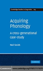 Acquiring Phonology ebook by Smith, Neil