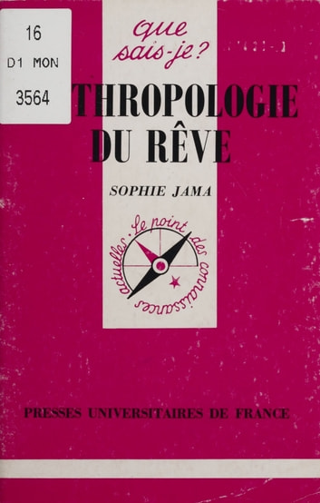 Anthropologie du rêve ebook by Sophie Jama