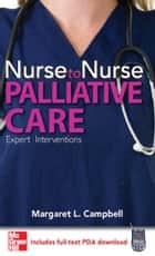 Nurse to Nurse Palliative Care ebook by Margaret Campbell