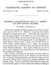 Mammals Collected by Dr. W. L. Abbott on the Natuna Islands ebook by Gerrit Miller