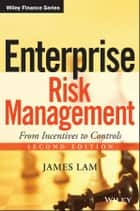 Enterprise Risk Management ebook by James Lam