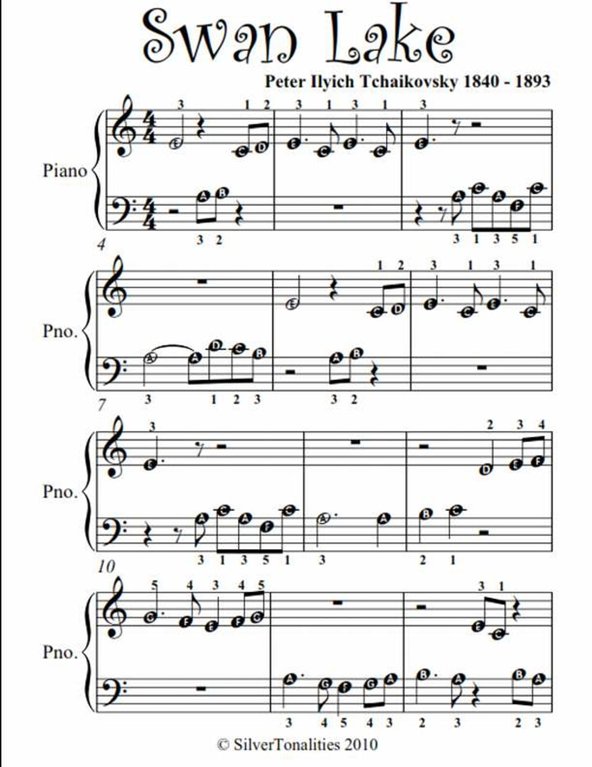 Eloquent image for piano sheet music for beginners popular songs free printable