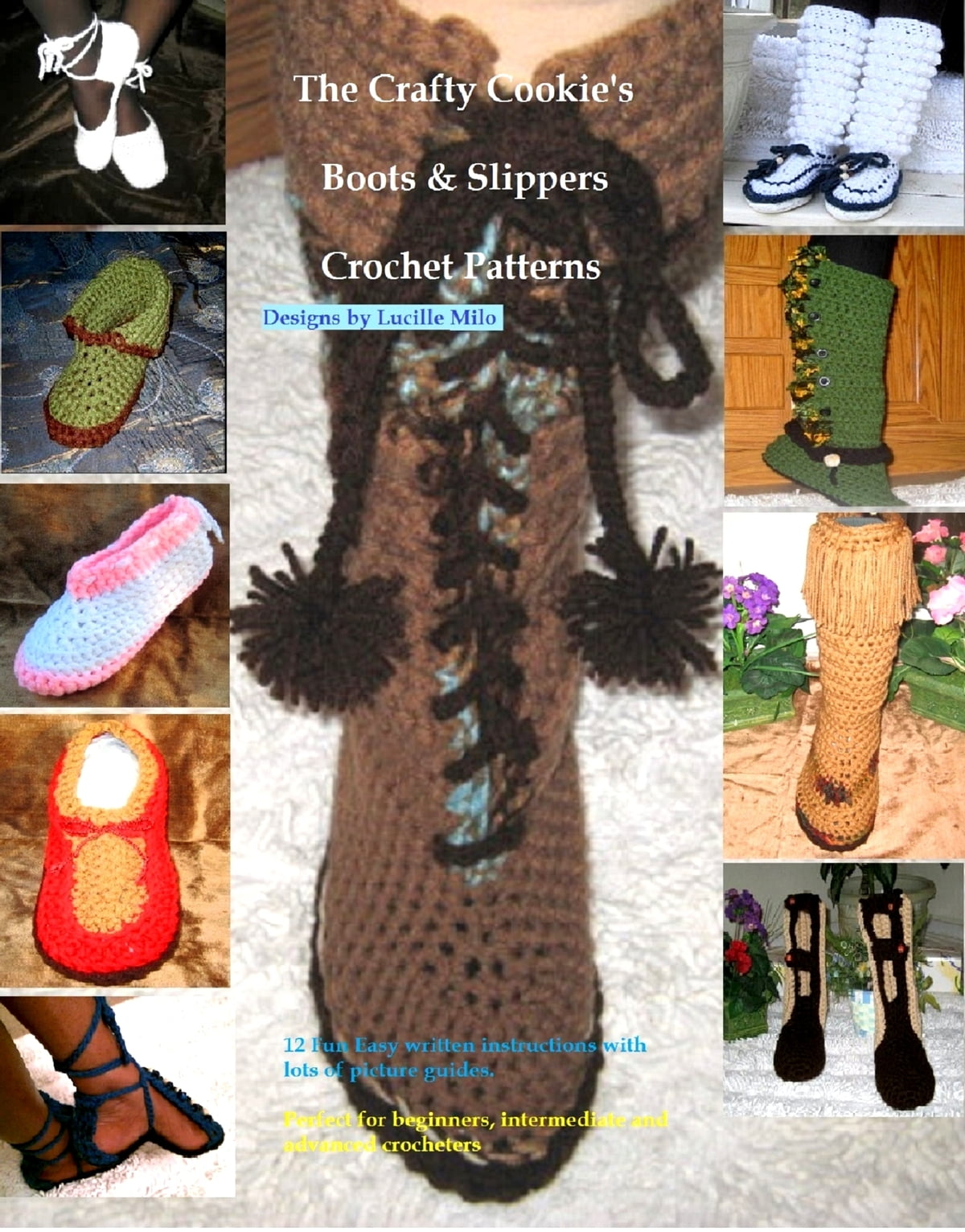 The Crafty Cookies Boots Slippers Crochet Patterns Ebook By