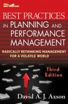 Best Practices in Planning and Performance Management ebook by David A. J.  Axson