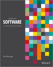 Design for Software - A Playbook for Developers ebook by Erik Klimczak