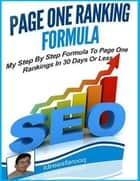 Page One Ranking Formula ebook by Idrees Farooq