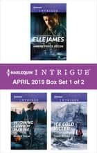 Harlequin Intrigue April 2019 - Box Set 1 of 2 - Marine Force Recon\Wyoming Cowboy Marine\Ice Cold Killer ekitaplar by Elle James, Nicole Helm, Cindi Myers
