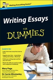 Writing Essays For Dummies ebook by Kobo.Web.Store.Products.Fields.ContributorFieldViewModel