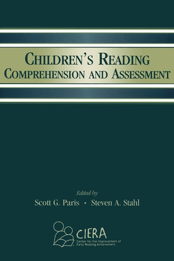 Children's Reading Comprehension and Assessment ebook by