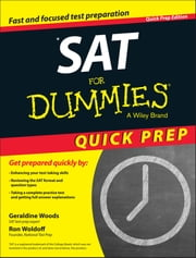 SAT For Dummies 2015 Quick Prep ebook by Geraldine Woods,Ron Woldoff