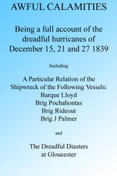 AWFUL CALAMITIES: BEING A FULL ACCOUNT OF THE DREADFUL HURRICANES OF DEC. 15, 21 AND 27, 1839 ebook by J Porter