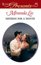 Mistress for a Month ebook by Miranda Lee
